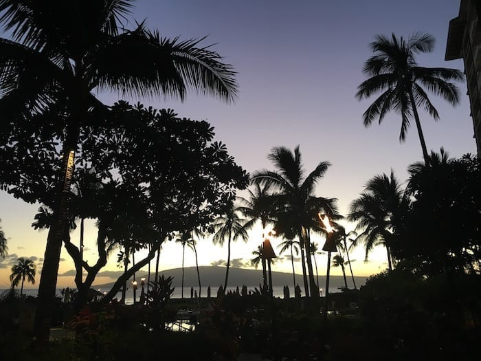 Maui at Sunset