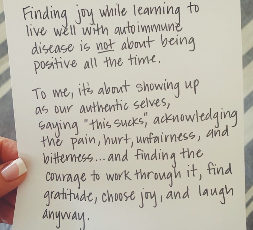 Finding Joy With Autoimmune Disease