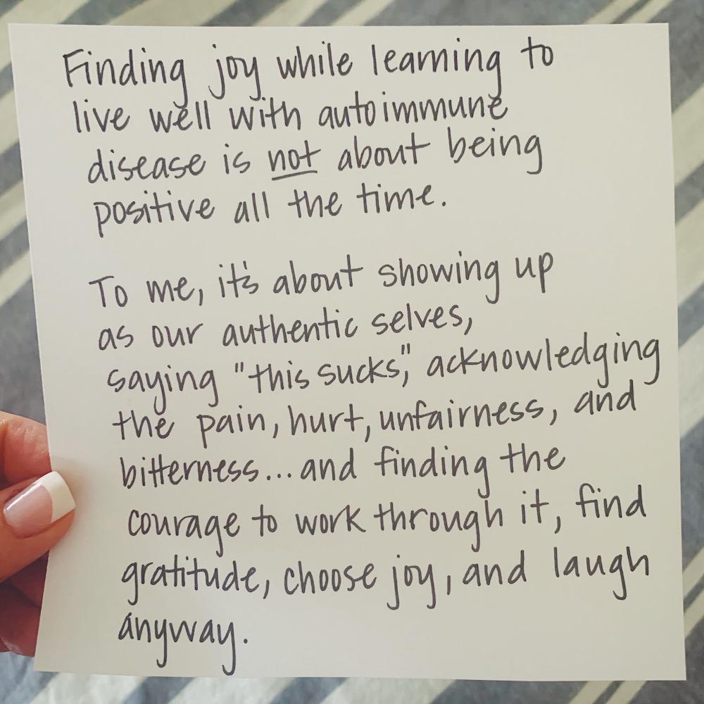 Finding Joy With Autoimmune Disease